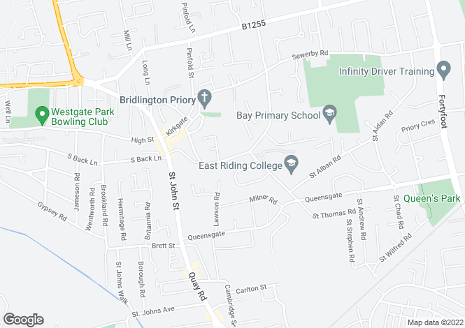 Map for Applegarth Lane, Bridlington, East Yorkshire