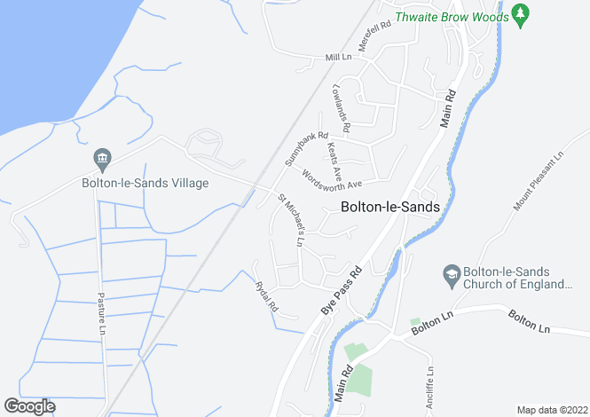 Map for Willow Lodge, 31 St Michaels Lane, Bolton Le Sands, Carnforth, Lancashire, LA5 8JT