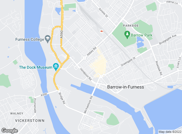 Map for Poole Townsend, Barrow in Furness - Lettings