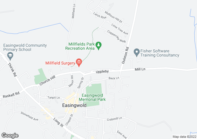 Map for Uppleby Easingwold