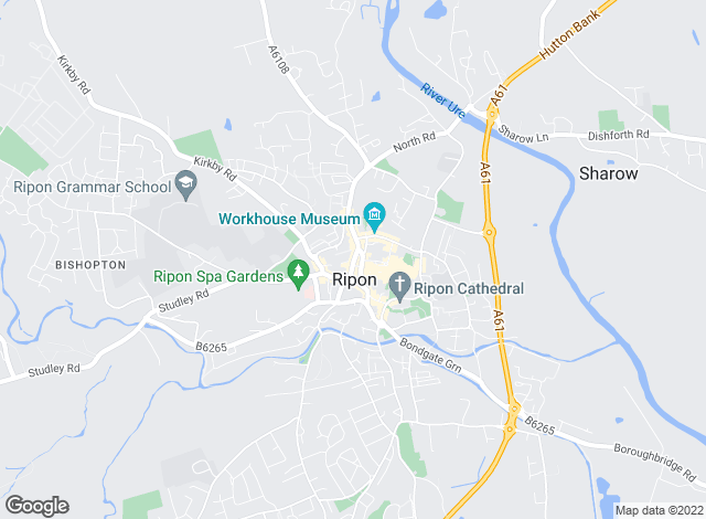 Map for Beadnall & Copley, Ripon