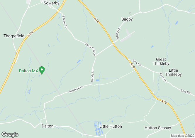 Map for Thirsk, North Yorkshire, YO7
