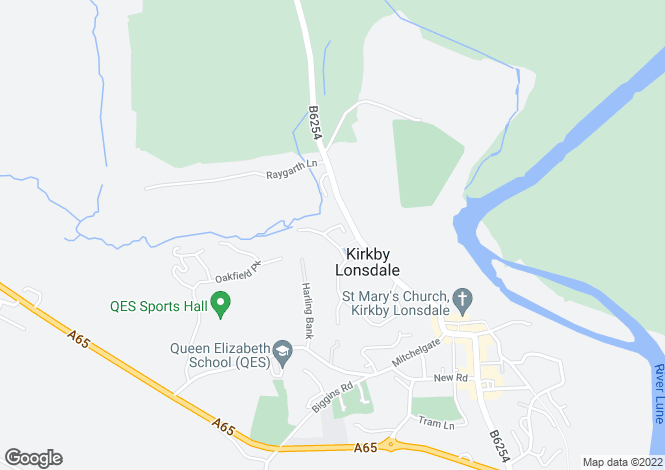 Map for Bridge House, Fairview, Kirkby Lonsdale, Cumbria, LA6 2HF