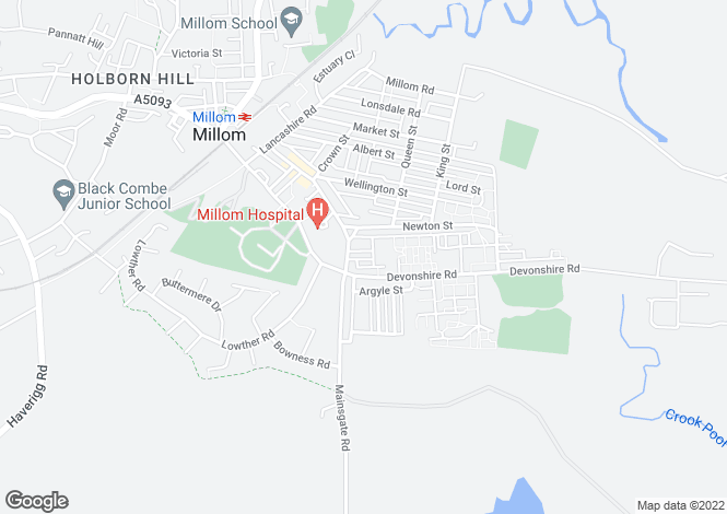 Map for Egremont Street, Millom, LA18