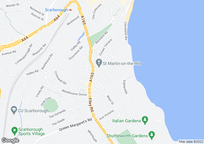 Map for Montpellier Terrace, Scarborough YO11