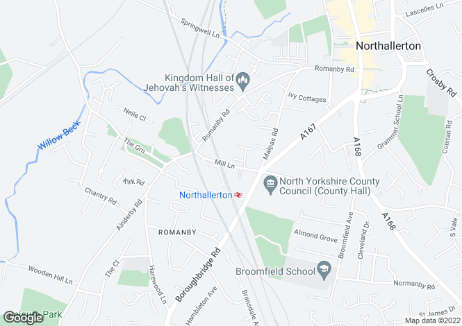 Map for Ferguson Close Northallerton
