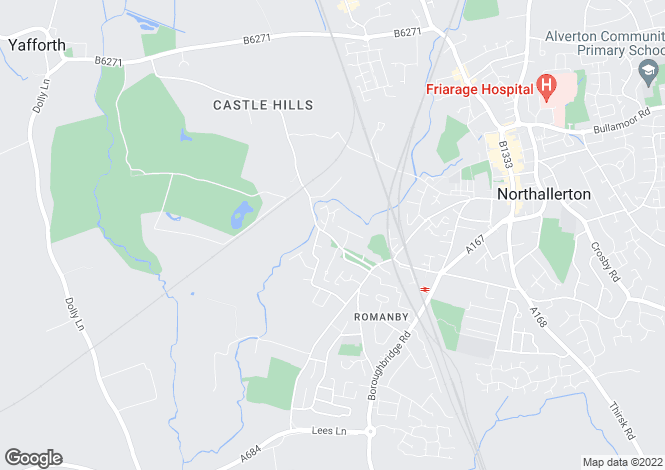 Map for The Green, Romanby, Northallerton