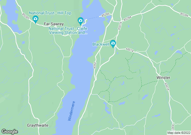 Map for Storrs Park, Bowness-On-Windermere, Cumbria, LA23