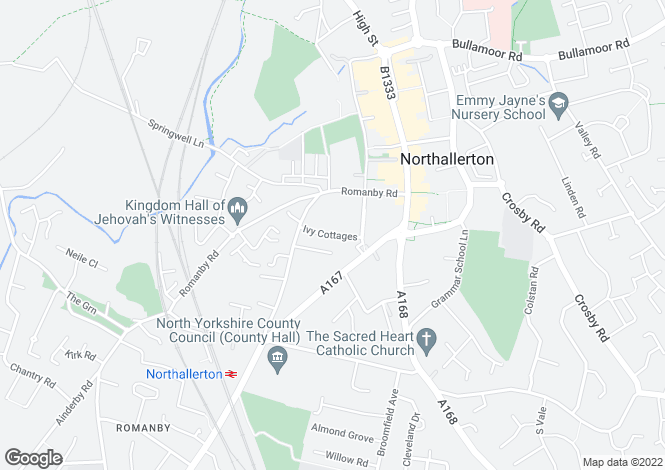 Map for Ivy Cottages  Northallerton