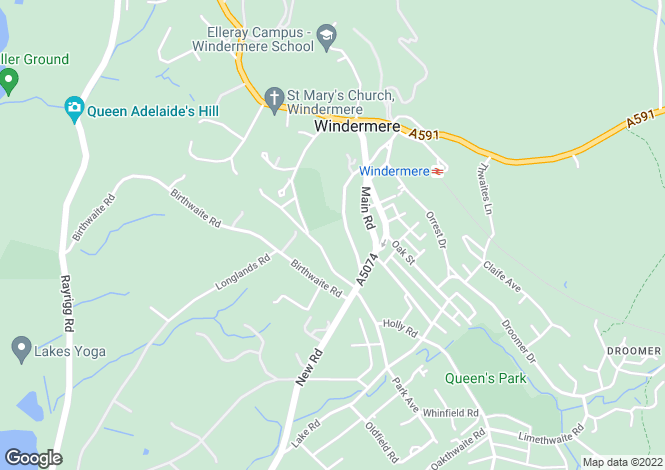 Map for 10 College Road, Windermere, Cumbria, LA23 1BX