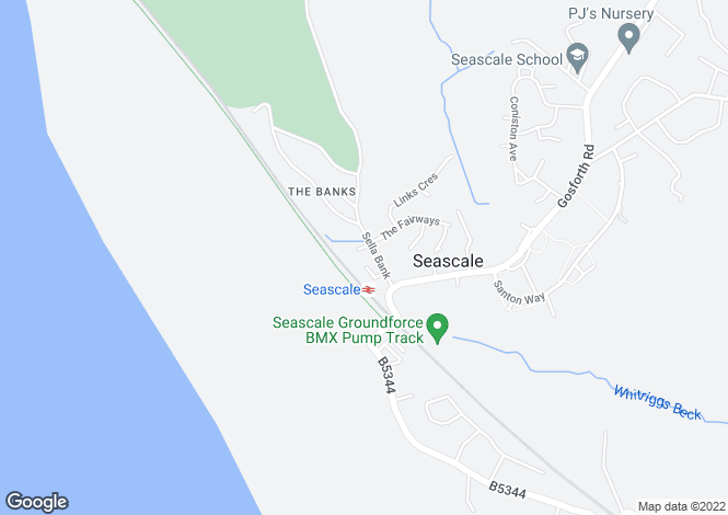 Map for 1 Sella Bank, The Banks, Seascale, Cumbria