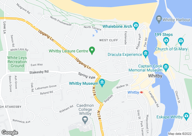 Map for Crescent Avenue, Whitby
