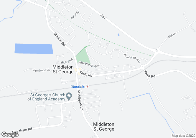 Map for Woodlands Green, Middleton St. George, Darlington