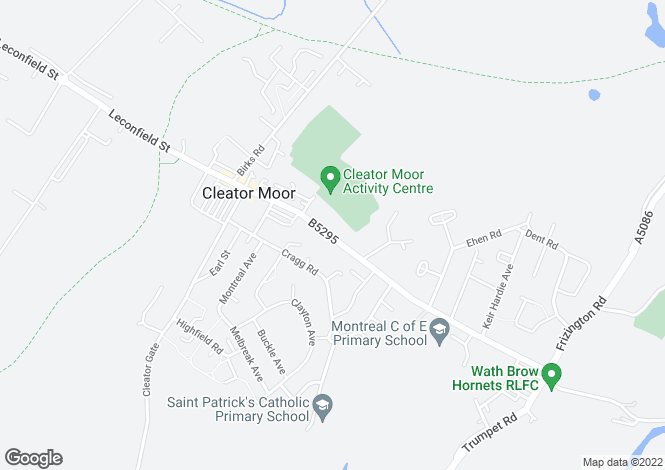 Map for Ennerdale Road, Cleator Moor, CA25