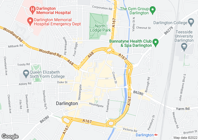 Map for 17 Northgate,