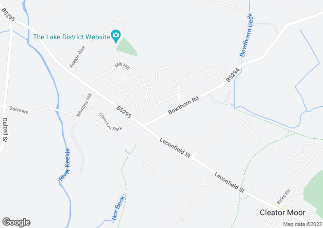 Map for Bowthorn Road, Cleator Moor CA25