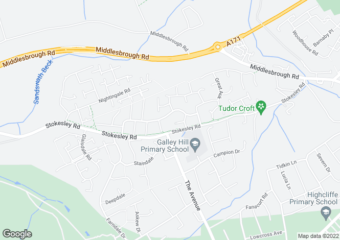 Map for Falcon Way Guisborough