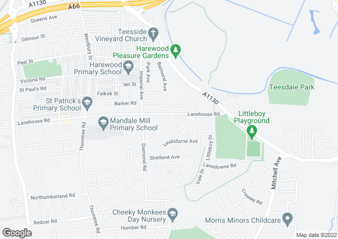 Map for Palmerston at Mandale Park, Taransay View,