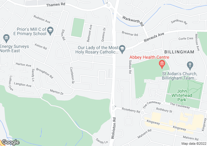 Map for Jubilee Grove, Wolviston Court, Billingham