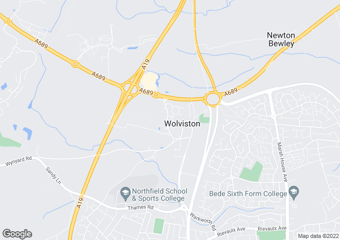 Map for MORELAND CLOSE, WOLVISTON VILLAGE