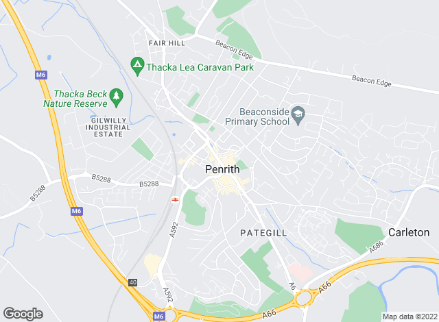 Map for Cumberland Estate Agents Ltd, Penrith