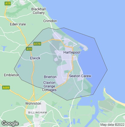 Map of property in Hartlepool