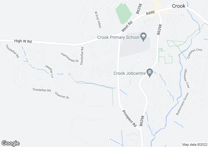 Map for Rudkin Drive, Crook DL15