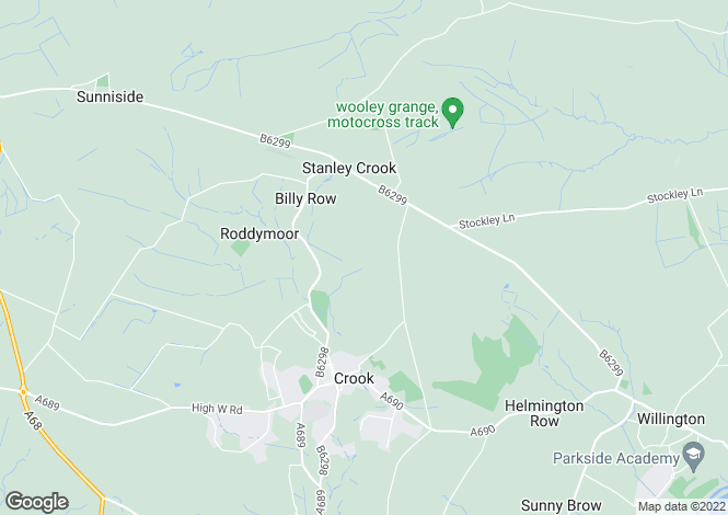 Map for Billy Hall Farm, Billy Row, Crook DL15