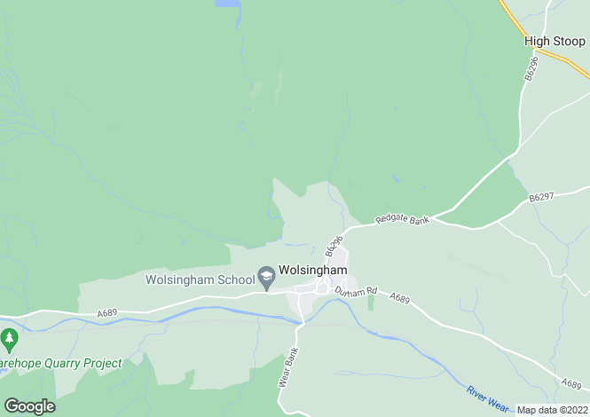 Map for Holywood, Wolsingham, Co Durham