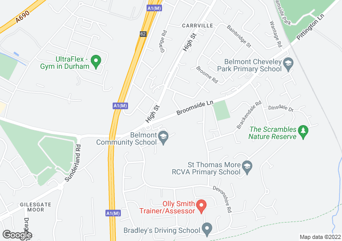 Map for Broomside Lane,
