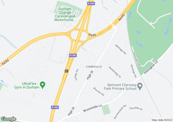 Map for Kirkstone Drive, Carrville, Durham, DH1