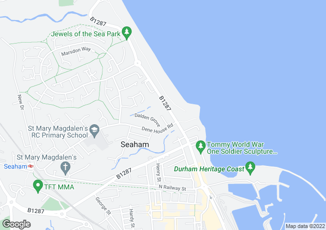 Map for North Road, Seaham, Co. Durham, SR7