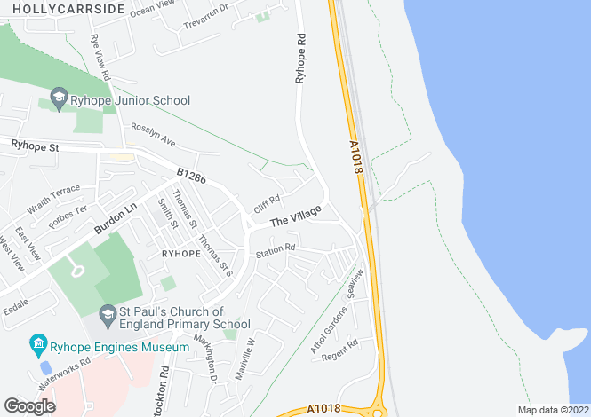 Map for Residential Development Site, Willow Farm, Ryhope, Sunderland, Tyne and Wear
