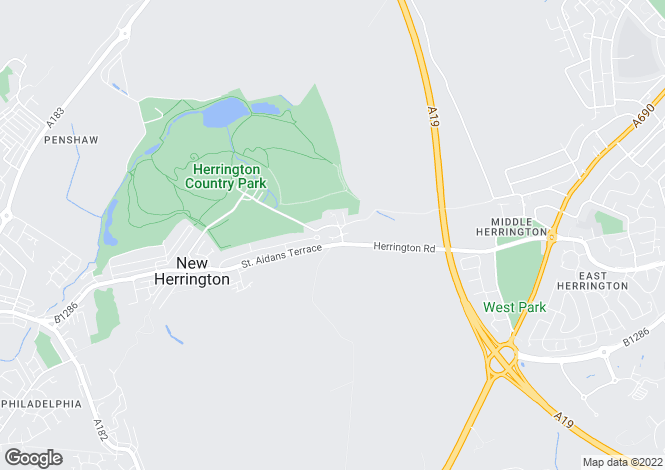 Map for The Stables, West Herrington