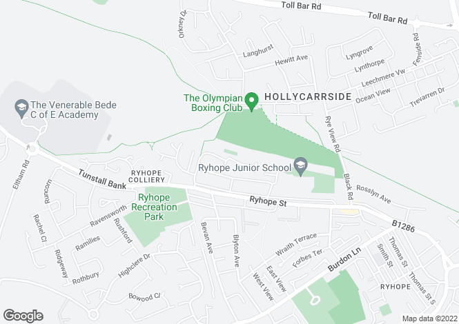 Map for Bankside Close, Ryhope, Sunderland, SR2