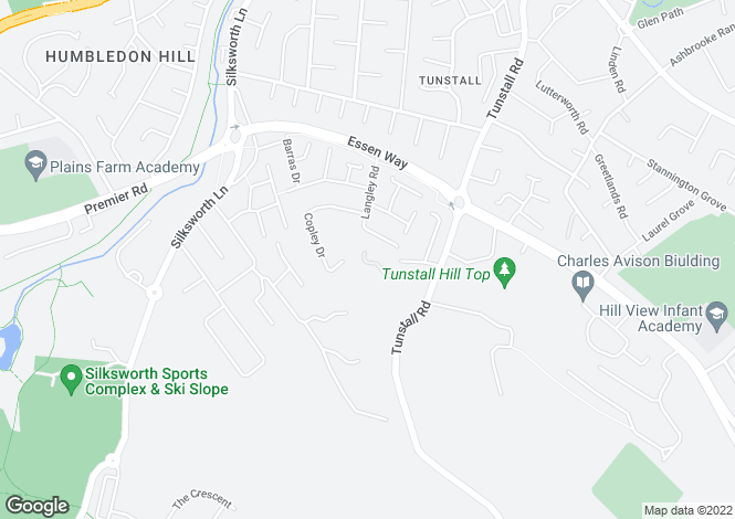 Map for Tunstall Road, Tunstall