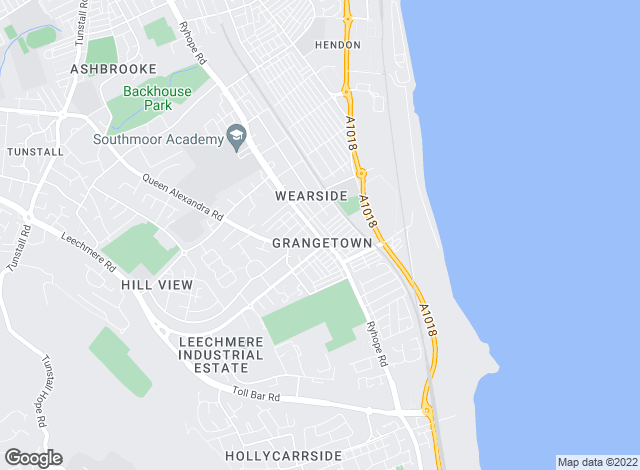 Map for Principle Properties, Sunderland