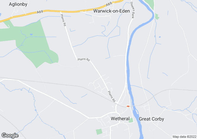 Map for Plains Road, Wetheral, Cumbria
