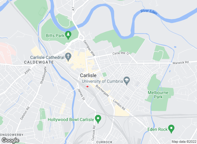 Map for Smiths Gore, Carlisle