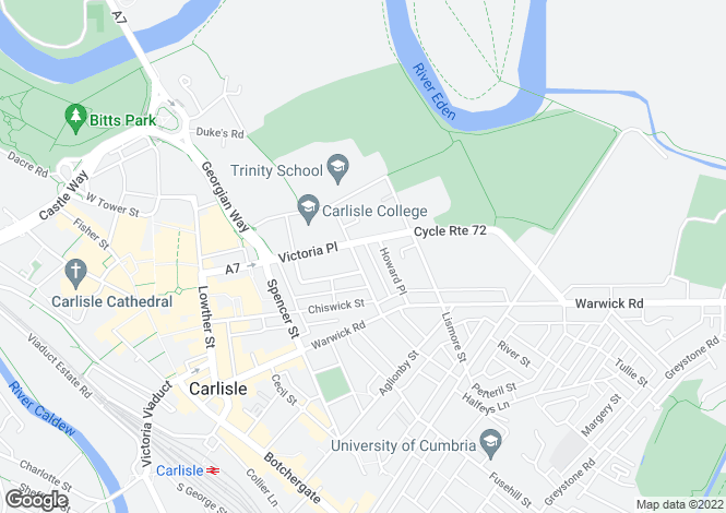 Map for Chatsworth Square, Carlisle, Cumbria