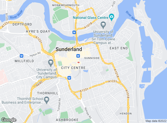Map for Michael Hodgson, Sunderland