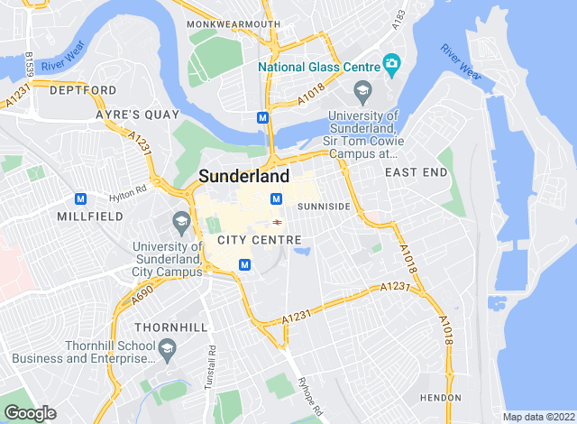 Map for Thomas Watson Chartered Surveyors and Residential Sales and Lettings, Sunderland