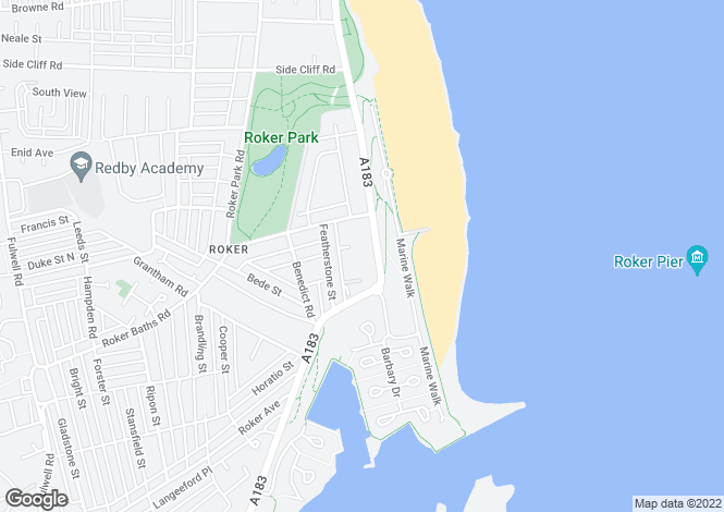 Map for The Park Avenue, Roker