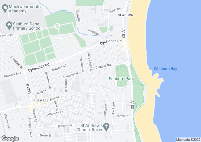 Map for Seaburn