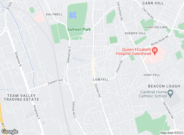 Map for Gordon Brown Estate Agents Ltd, Gateshead