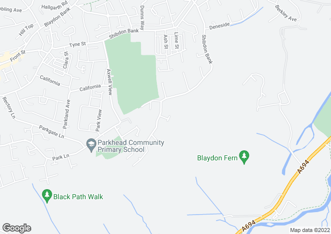 Map for Helvellyn Close, Blaydon-On-Tyne NE21