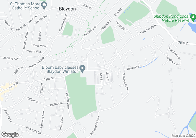 Map for Clavering Road, Blaydon-on-tyne NE21