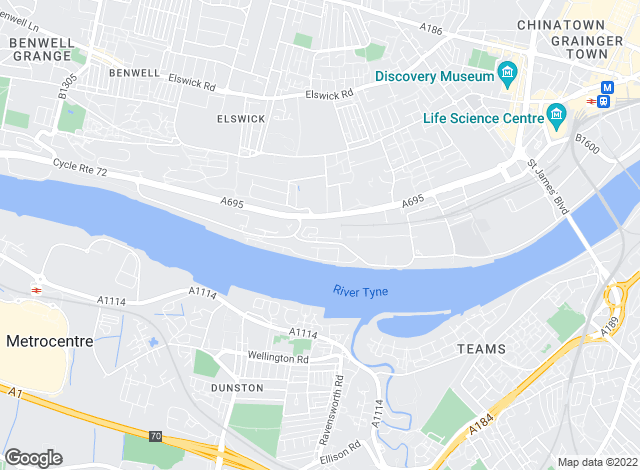 Map for Rook Matthews Sayer, Newcastle Upon Tyne - Lettings