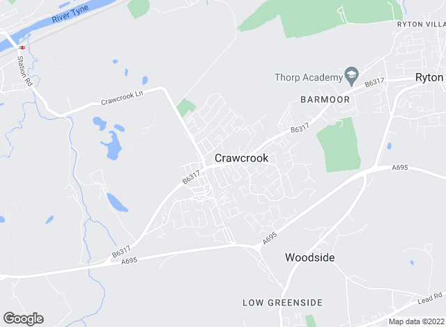Map for YOUR MOVE, Crawcrook