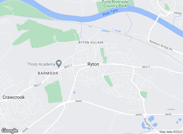 Map for Rook Matthews Sayer, Ryton